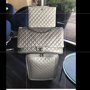 CHANEL COCO TROLLEY CAVIAR LUGGAGE SET